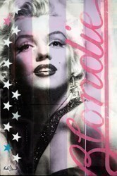 Blondie (Pink on Purple) by Keith Stewart -  sized 24x36 inches. Available from Whitewall Galleries